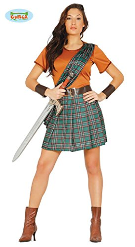 Schottische Kriegerin Kostüm für Damen Schottin Rock Sexy Kämpferin Gr. M/L, (Kostüme Schottischen Sexy)