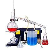 CHUJI unità di distillazione Set Vetreria da Laboratorio Industrial Science Distiller Rugiada Pura Purificazione Fare Oli Essenziali Filtro Alcool distillato Chimico delle acque