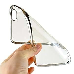 Soft Transparent back cover Samsung Galaxy Grand Prime SM-G530H silver