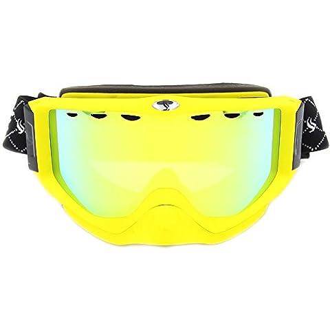 Benice (? snow-1700Lunettes de ski/snowboard avec revêtement miroir MB Anti fog-uv Protection Moto Motoneige Lunettes de sports d'hiver Aqua SNOW-1706