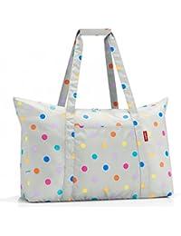 Reisenthel Mini maxi travelbag Borsa da spiaggia, 65 cm, 30 liters, Grigio (Stonegrey dots)