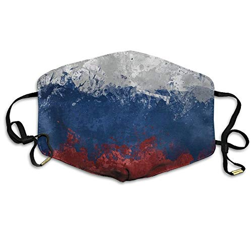 HUSDFS Mouth Masks Flag Russia Spots Mask Unisex Fashion Antidust Face Mouth Mask Muffle Flu Surgical Washable Warm Reusable Ski Cycling Mask