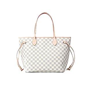 Noah Birch Neverfull Style Damier Tote Shoulder Large-Capacity Shopping Bag Female Bag Checkerboard Women's Organizer Handbag Shoulder Fashion Bag