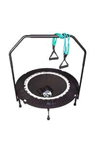 MaXimus Pro Falt Rebounder Mini-Trampolin inkl. Tragetasche, Workout-DVD (in Englisch), Haltestange, Expander und Sandgewichten