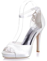 Elegant high shoes5915-22 Des Talons Hauts Des Femmes/Confortable PU/Peep Toe/Partie De Nuit Et Confort DéContracté/Une VariéTé De Couleurs, blue, 42