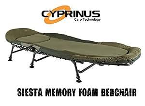 31299dceda0 CyprinusTM Siesta Memory Foam bed chair bedchair for carp fishing ...