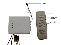 New Blackt: Wireless Remote Control Switching System for Lights & Fan with Speed Regulation/Dimmer