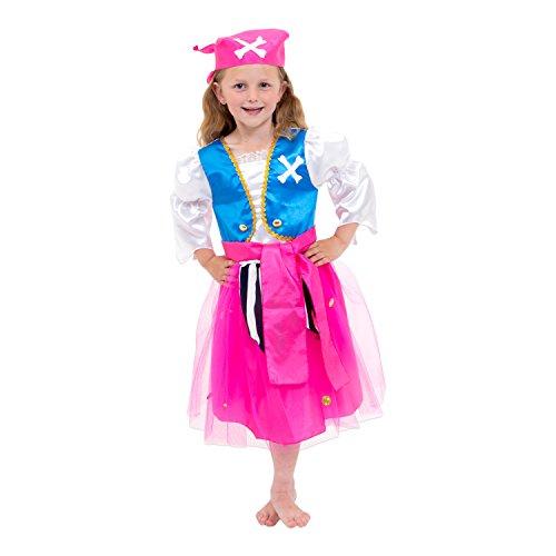 Lucy Locket-Piraten Kostüm für Mädchen, Größe 7-8Jahre