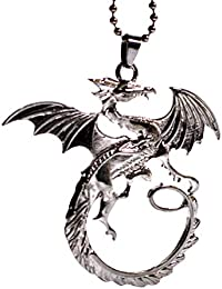 The Hobbit The Desolation Of Smaug Tauriel Fiery Dragon Chain Pendant Necklace Lord Of The Rings Jewelry fVUDz