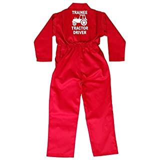 Acce Products Trainee Tractor Driver Baby, Childrens, Kids, Coverall, Boilersuit, Overall - Size - 24-3-4 Years - Red