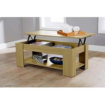 Samblo Argus Lift Up Coffee Table Wood And Melamine Oak 100 X 50 X 42 Cm Coffee Tables