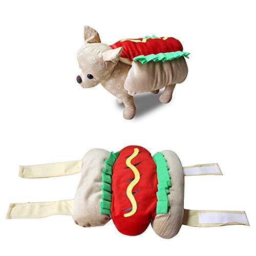 JLCYYSS Pet Halloween Kostüm Outfit Kleidung Hund Katze Spuk Fancy Dress Geschenk Party Neuheit Hot Dog Design Kleidung,L