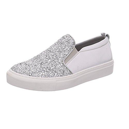 Tamaris Damen 24646 Slipper, Silber (Silver Glam 919), 38 EU