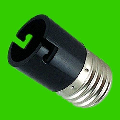 Weiße Miniatur-leuchtstofflampe (zantec E27auf B22Konverter Lampenfassung Schraub zu bayonet-type LED Leuchtmittel Boden schwarz)