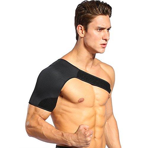 """Doact Sport Schulterbandage, Leichtes Gewicht Verstellbare Schulterbandage für Schulter Schmerzlinderung, Sport und Fitnessaktivitäten für Herren und Damen (Rechte:40""""- 48"""")"""