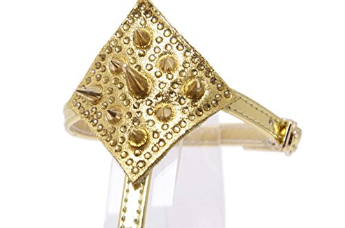 NobS Mode Femmes Femmes Talons hauts Rivet Sandales Hollow Sandales Talons hauts Sandales Chaussures Boucle Souliers Casual Gold