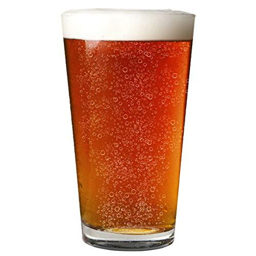 Vaso de pinta nucleado de 16 onzas, más cabeza, más sabor, mejor cerveza.
