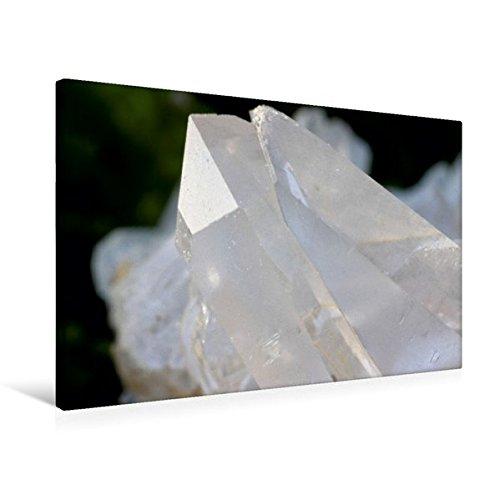 Premium Textil-Leinwand 75 cm x 50 cm quer, Bergkristall | Wandbild, Bild auf Keilrahmen, Fertigbild auf echter Leinwand, Leinwanddruck: Der...