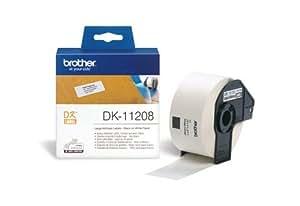 Brother DK-11208 Rouleau etiquettes papier (grand format) 38 x 90 mm, 400 etiquettes BlancRouleau (Import Allemagne)