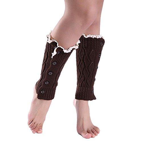 (TEBAISE Damen Stulpen Socken - Winter Kurze Stricken Stulpen Gestrickte Beinwärmer Leg Warmers Socken Stiefel Boot Abdeckung)