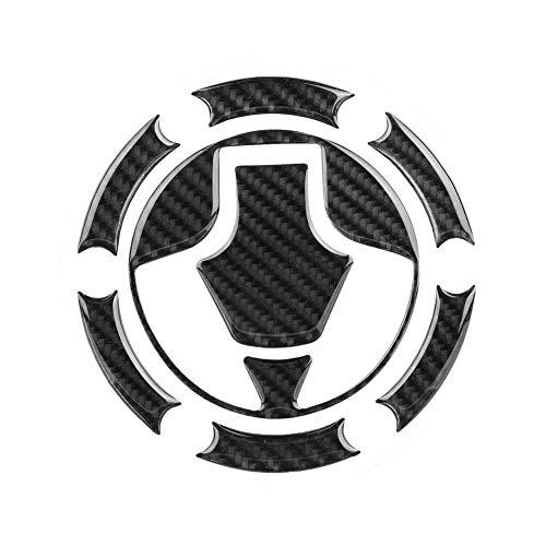Couverture de Bouchon de Réservoir de Carburant de Voiture Garniture en Fibre de Carbone Autocollant Décoration Logo Symbole Stickers Etiquetage Autocollants de Voiture pour Kawasaki