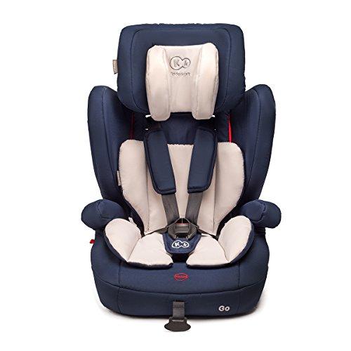 Kinderkraft GO Kinderautositz Kindersitz Autokindersitz 9 bis 36 kg Gruppe 1 2 3 Dunkelblau