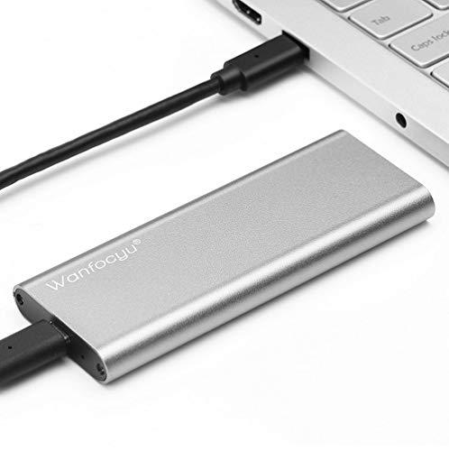 Adaptateur de boîtier SSD USB Type C M.2 NVMe, Boîtier Externe en Aluminium SSD 10 Gbps USB 3.1 Gen 2, Conception d'aileron de Refroidissement Unique pour Une Bonne Dissipation de Chaleur