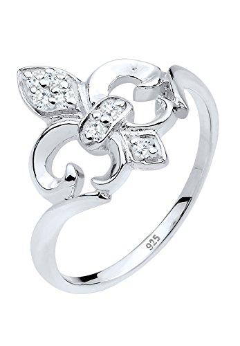 Elli Damen-Ring 925 Sterling Silber Kristall Zirkonia weiß Gr.58 (18.5) 0611292913_58