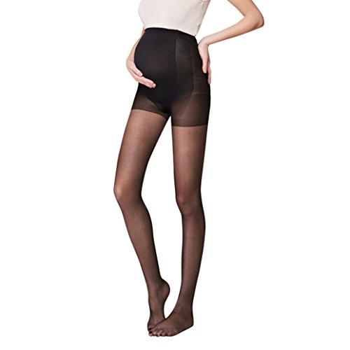 bobo4818 Schwangerschaft Strumpfhosen Solide Socken Siamesische Strumpfhosen Für schwangere Frauen (schwarz)