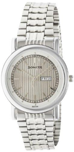 41H8WOJH8WL - Sonata 7987SM01 Wedding Silver Mens watch