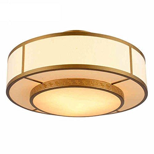 Antique Bronze Leinen Shade LED Flush Mount Deckenleuchte für Wohnzimmer, Schlafzimmer (3 x LED 5W E27 Birne nicht enthalten) (Mount Flush 3 Birne)