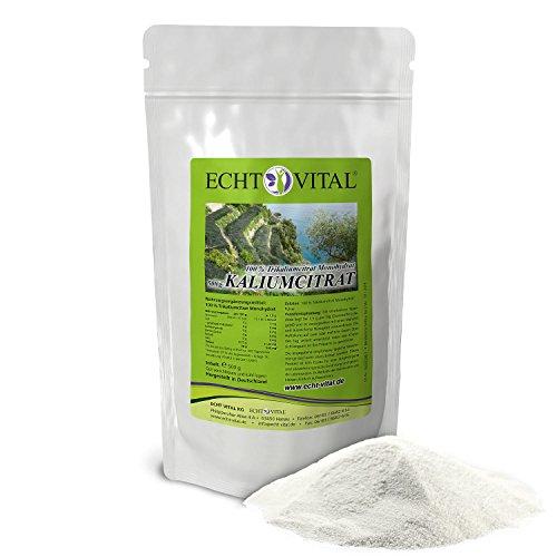 ECHT VITAL KALIUMCITRAT – 1 Beutel mit 500 g Pulver