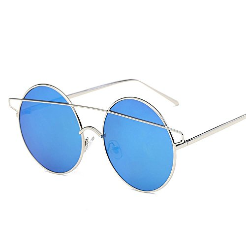 BiuTeFang Mens Sunglasses Women Metal Mirror Leg Pearl Frame Student Glasses Frame Round Female Art Fan Chao Spectacle Frame