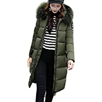 7b6819e0bf1e Damen Winterjacke Wintermantel Lange Daunenjacke Jacke Outwear Frauen Winter  Warm Daunenmantel Solide Lässig Dicker Winter Slim