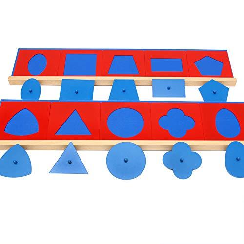 Wumudidi Montessori sensorische Lehrmittel Eisen geometrische Platte frühen Kindheit Lernspielzeug - Eisen-box-board