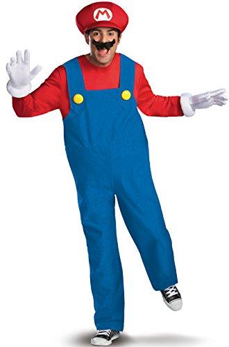 Mario Deluxe-Verkleidung für Erwachsene (Kinder Deluxe Mario Kostüme)