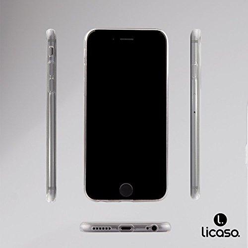 "licaso® iPhone 6 4,7"" TPU Hülle Disney Case transparent klare Schutzhülle Panda Panda-Bär Disney Hülle iphone6 Tasche Cover (Panda 2) Ice"