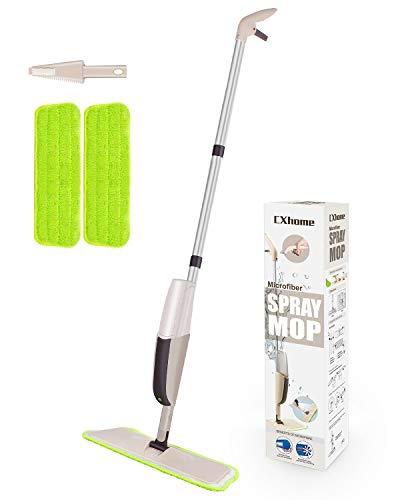 Cxhome lavapavimenti per pulizia dei pavimenti, spray mop con 2 waschbaren bodenwischer ersatzbezug e 1 serbatoio, spray mopp per home cucina grigio-verde