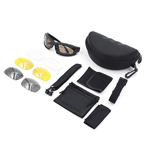 L.J.J Brille Taktische Sport-Sonnenbrille-Motorrad-Reitbrille Fahren Jagd Schießen Klettern für Unisex Brille (Color : Grau, Size : One Size)