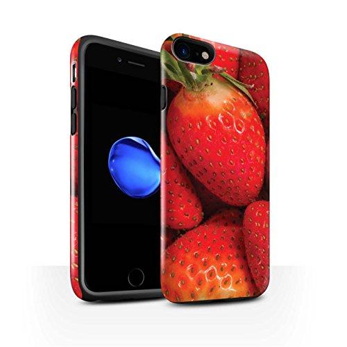 STUFF4 Glanz Harten Stoßfest Hülle / Case für Apple iPhone 8 / Wassermelone Muster / Saftige Frucht Kollektion Erdbeere