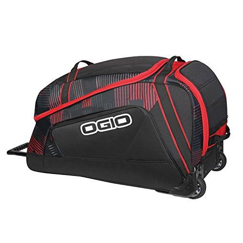 OGIO Big Mouth con ruedas–Stoke en negro y rojo