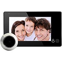 Amazingdeal365 4.3inch LCD Mirillas Digitales para Puertas,Cámara Mirillas para puertas