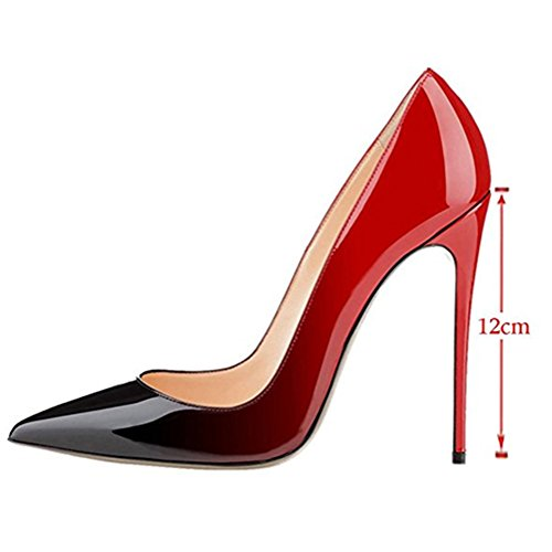 MIUINCY classic high heels ladies sexy high heels shoes wedding shoes party red&black