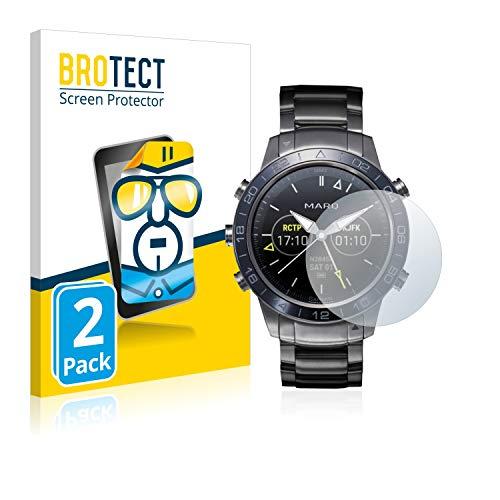 2X BROTECT HD Clear Displayschutz Schutzfolie für Garmin Marq Aviator (Kristallklar, extrem Kratzfest, schmutzabweisend)