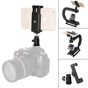 Kamera Blitzschuh Adapter 1/4' Gewinde Kugelkopf Blitzschuh Befestigungsadapter 360 Grad Rotation Hot Shoe Befestigungsadapter für Nikon Canon Sony + More...