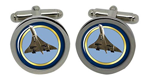 Concorde Männer-Manschettenknöpfe mit Chrom-Geschenkbox