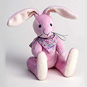 Canterbury Bears ltd 108 Maise Cuddly Rabbit - Oso de Peluche (pálido), Color Rosa