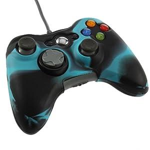 OSTENT Camouflage weichen Silikon Skin Case Cover Tasche kompatibel für Microsoft Xbox 360 Controller – Farbe blau