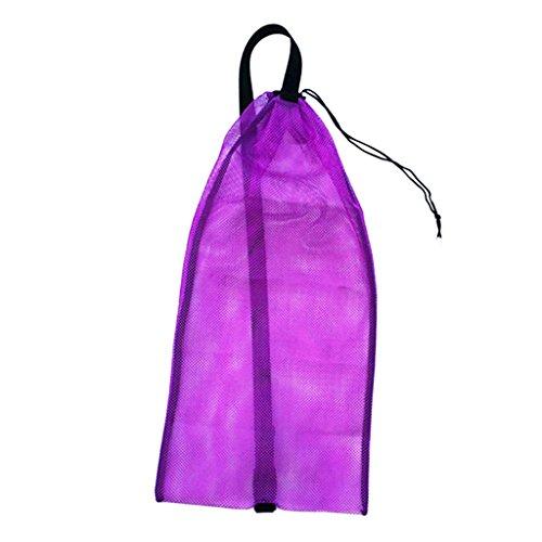Unbekannt Netzbeutel Mesh Bag Netztasche für Erwachsene Tauchen Schnorcheln Schwimmen, Tragetasche Flossentasche für Schnorchel, Tube, Brille, Maske, Atemregler, Flossen zu aufbewahren - Lila (Tauchausrüstung Maske, Schnorchel)
