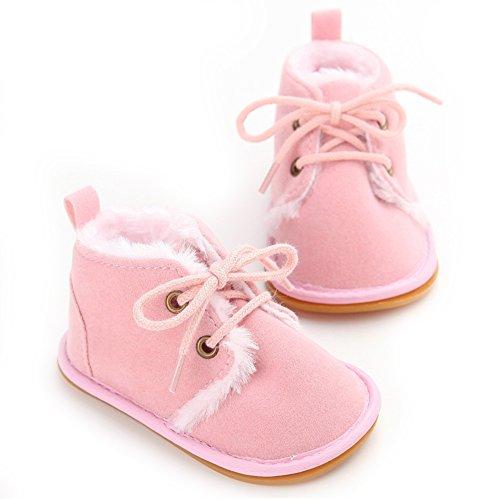 Baby-Winter-Schuhe weiche Sohle Baby-Mädchen-erste Wanderer (L: 12 ~ 18 Monate, Rosa) Rosa